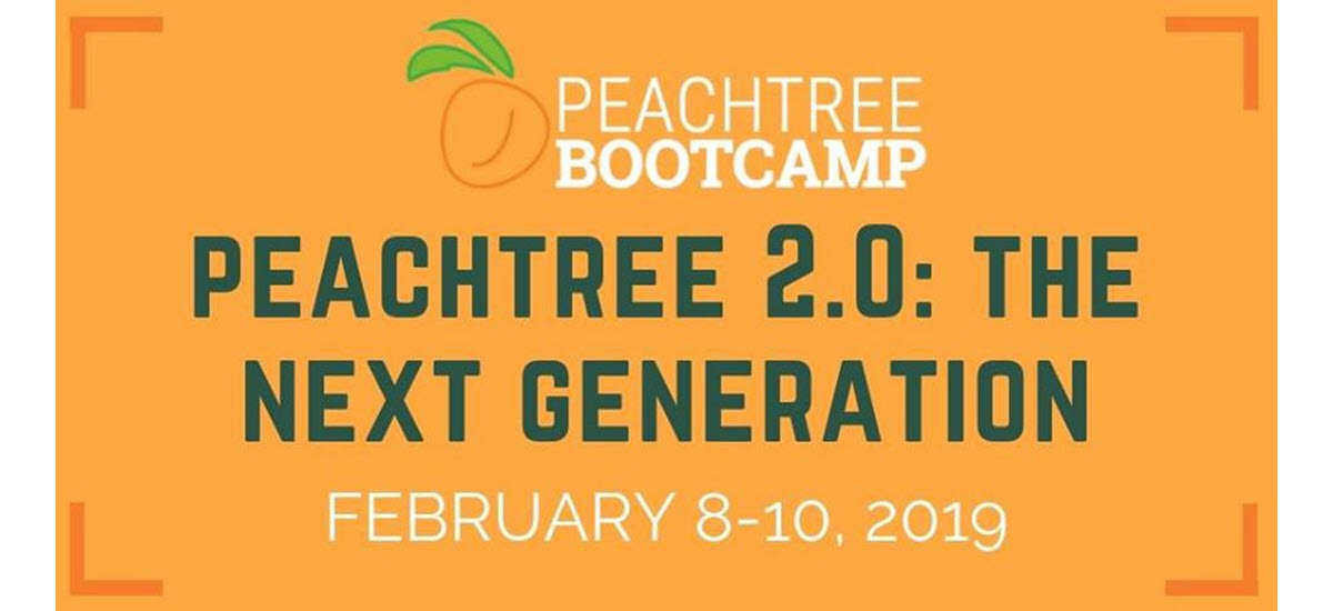 Pre-Order for Peachtree Bootcamp 2019